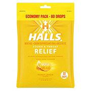 Halls Mentho Lyptus Honey Lemon Cough Drops
