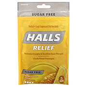 Halls Sugar Free Triple Soothing Action Cough Drops, Honey-Lemon