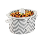 Hamilton Beach 3 QT Chevron Pattern Slow Cooker