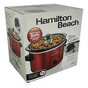Hamilton Beach 3 QT Red Slow Cooker