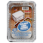 Handi-Foil Deep Storage Containers with Folded Board Lids