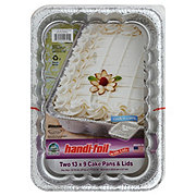 Handi-Foil Eco-Foil 13x9 in Cake Pans with Lids