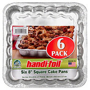 Handi-Foil Eco-Foil 8x8 in Square Cake Pans