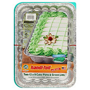 Handi Foil Fun Colors Cake Pans With Lid Green