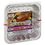 Handi-Foil Ultimates Cook-n-Carry Poultry Pans & Lids