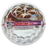 Handi-Foil Ultimates Cook-n-Carry Round Cake Pans & Lids