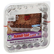 Handi-Foil Ultimates Cook-n-Carry Square Cake Pans & Lids