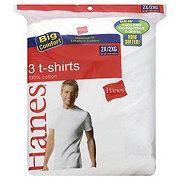 Hanes 100% Cotton Mens Crew Neck T-Shirt White Size 2X