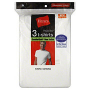 Hanes ComfortSoft Tagless White T-Shirts Medium
