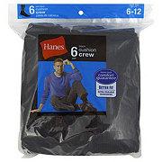 Hanes Cushion Crew Men's Socks Black Sizes 6-12