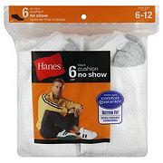 Hanes Cushion No Show Men's Socks Sizes 6-12