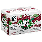 Hansen's Black Cherry Diet Soda 12 oz Cans