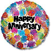 Happy Anniversary 18 Inch Single Balloon