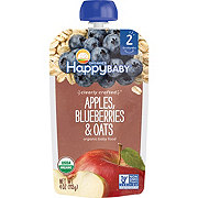 Happy Baby Organics Clearly Crafted Stage 2 Apple Blueberries Oats