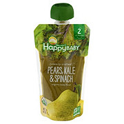 Happy Baby Organics Clearly Crafted Stage 2 Pears Kale Spinach