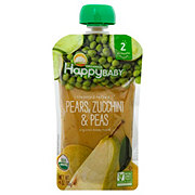 Happy Baby Organics Clearly Crafted Stage 2 Pears Zucchini Peas