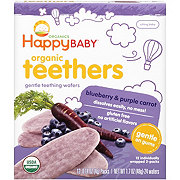 Happy Baby Organics Gentle Teethers Wafers Blueberry & Purple Carrot