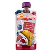 Happy Baby Organics Stage 2 Banana, Beet and Blueberry Organic Baby Food