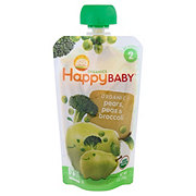 Happy Baby Organics Stage 2 Broccoli, Peas and Pear Organic Baby Food