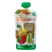 Happy Baby Organics Stage 2 Spinach, Mango and Pear Organic Baby Food