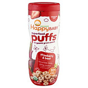 Happy Baby Organics Supefood Puffs Strawberry & Beet