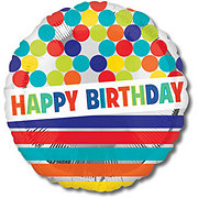 Happy Birthday 18 Inch Single Balloon