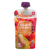 Happy Tot Organics Fiber & Protein Pear Raspberry Squash Carrot
