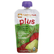 Happy Tot Plus Strawberry, Kiwi, Beet and Pear Fruit and Veggie Blend