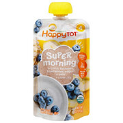 Happy Tot Super Morning Meals Bananas, Blueberries, Yogurt & Oats
