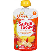 Happy Tot Superfoods Bananas, Peaches & Mangos