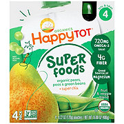 Happy Tot Superfoods Pears, Peas & Green Beans