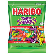 Haribo Twin Snakes Sweet and Sour Gummi Candy