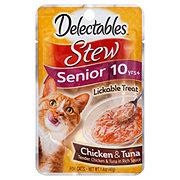 Hartz Delectables Stew Chicken & Tuna Senior Cat Treat