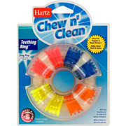 Hartz Dental Chew 'n Clean Teething Ring Bacon Flavor Dog Toy