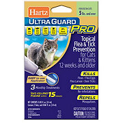 Hartz Ultra Guard Pro Flee and Tick Drops For Cats Over, 5lbs