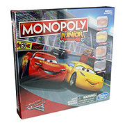 Hasbro Monopoly Junior Disney Pixar Cars 3 Edition