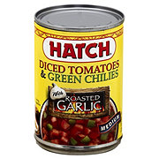 Hatch Diced Tomatoes and Green Chilies with Roasted Garlic Medium
