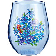 Haven & Key Bluebonnet Stemless Wine Glass