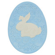 Haven & Key Ceramic Bunny Plate 8 in. Assorted Colors