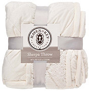 Haven & Key Solid Quilted Sherpa Throw