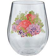Haven & Key Spring Floral  Stemless Wine tumbler
