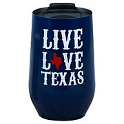 Haven & Key Stainless Steel Stemless Wine Love Texas 16oz