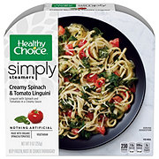 Healthy Choice Simply Cafe Steamers Creamy Spinach & Tomato Linguini