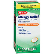 HEB All Day Allergy Cetirizine HCI 10 mg Softgels