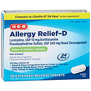 HEB Allergy Relief-D 240 mg Tablets
