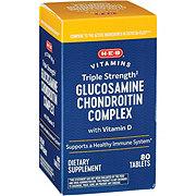 HEB Glucosamine Chondroitin Complex Triple Strength with Vitamin D 2000 IU Caplets