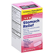 HEB Multi-symptom Stomach Relief Caplets