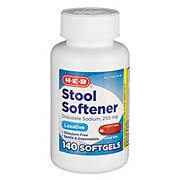 HEB Stool Softener Extra Strength250 mgSoftgels