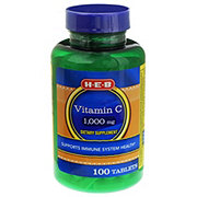 HEB Vitamin C 1000 mg Tablets