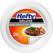 Hefty Deluxe Extra Strong And Deep Polypropylene Plates, 10.25 inch
